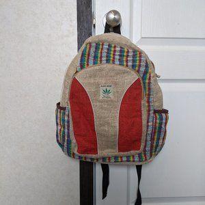 Handbags - Hemp Backpack Happy Colors Boho Hippie Cannabis